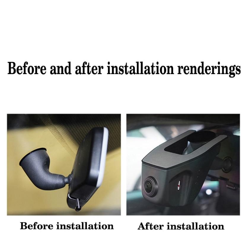 For VW Tiguan / Car Driving Video Recorder DVR Mini Control APP Wifi Camera Black Box / Registrator Dash Cam Original Style