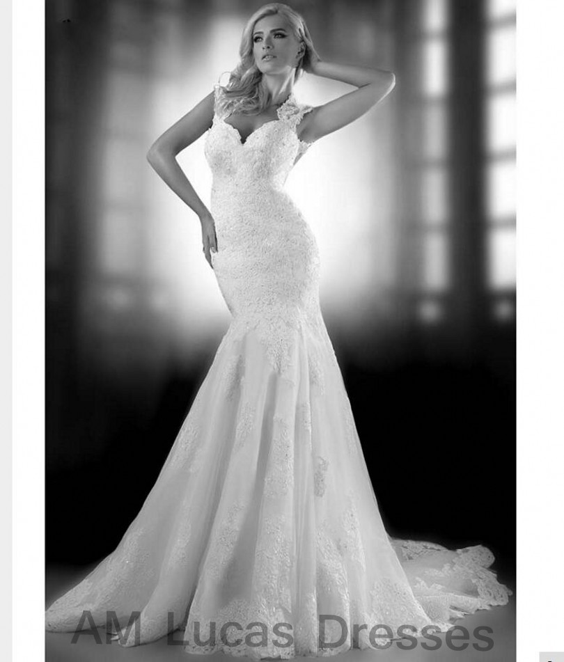 Luxury Mermaid Wedding Dresses Backless 2017 Bridal Dresses High Collar Party Gowns Fairytale Princess Robe De Mariage