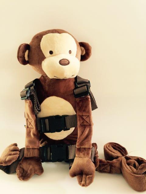 Приятель для того, чтобы держать 2-в-1 Детские накладной Рюкзак Детские поводья для От 1 до 3 лет вокруг - Цвет: New Monkey