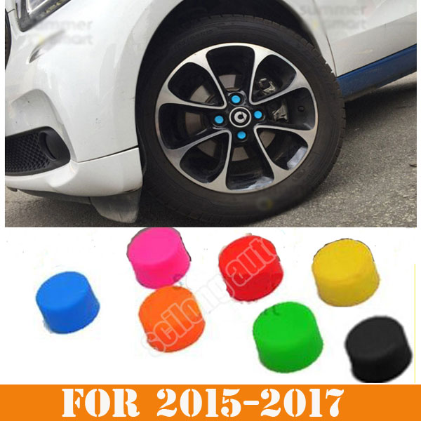 Smart Car Accessories >> Us 13 99 Sikali Skl Fit For 2015 2017 Smart Fortwo Forfour Car Accessories Wheel Cover Stickers Protective Bolt Caps Hub Screw Protector In Car