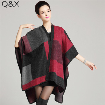 SC113 2018 Lady Knitted Thick Poncho Autumn Blanket Winter Shawl Fashion Striped Cardigans Casual Wrap Open Stitch Tassel Cloak