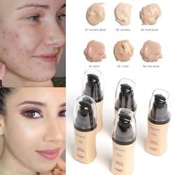 Makeup Foundation Whitening Brighten Base High Coverage Matte Liquid Foundation Cream Face Professional Waterproof Make Up