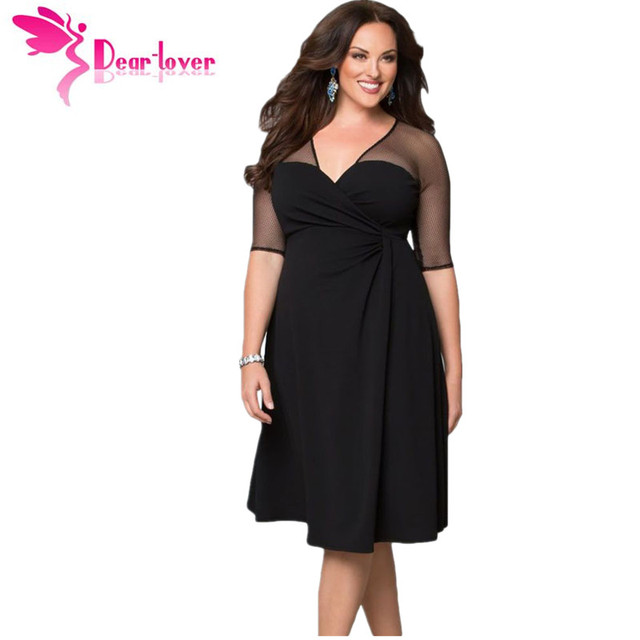 Dear Lover Плюс Размер XXL Женщины Моды Половина Рукава Рабочая Одежда сахар и Специи Платье уютные vestidos осень платье большие размеры LC60671