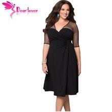 Dear Lover плюс Размеры XXL Для женщин Мода Половина рукава Повседневная обувь сахара и специй платье уютный Vestidos осеннее платье большой Размеры s LC60671