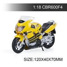 Maisto 1:18 Motorcycle Models CBR600F4 Model bike Alloy Motorcycle Model Motor Bike Miniature Race Toy For Gift Collection 1 10 maisto motorcycle toy alloy yamaha honda motorbike model racing motor miniature car models kids toys gift