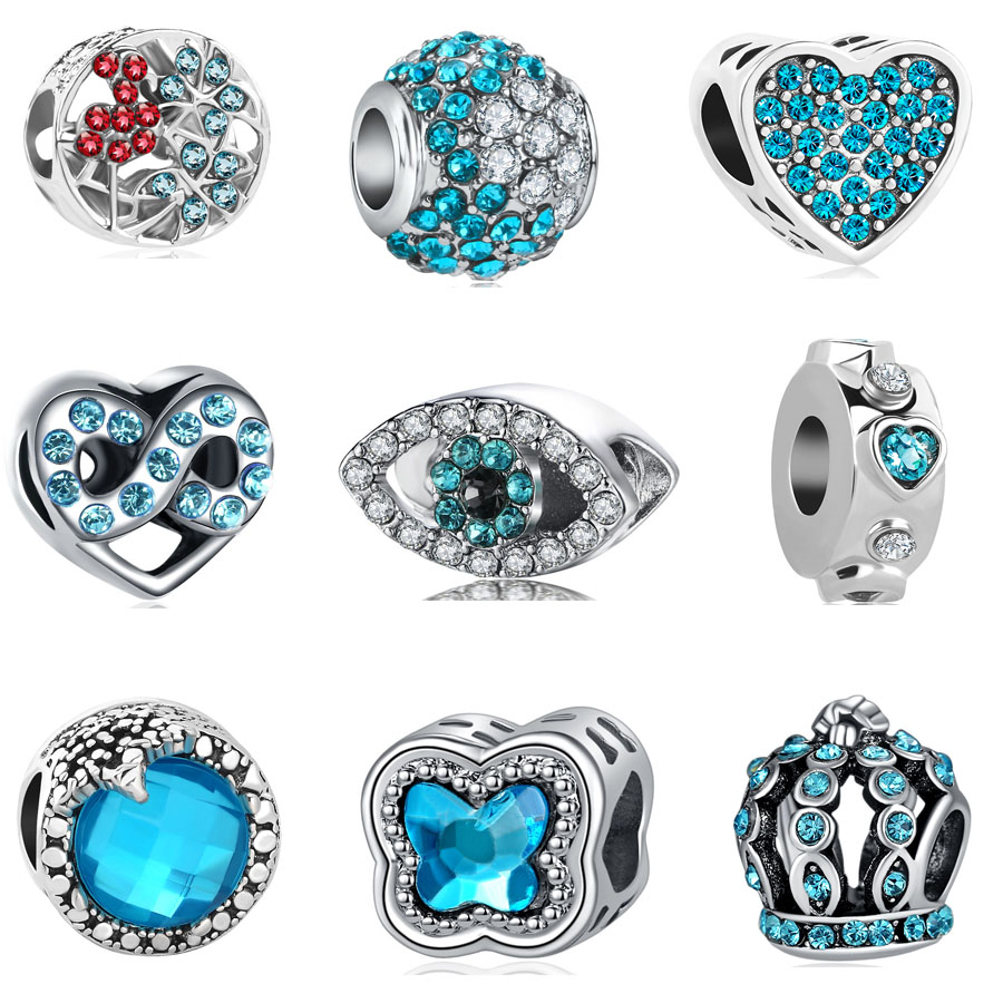 Beads & Jewelry Making Charm Silver Plated Bead Pram Eyes Handbag Infinity Heart Fit Pandora Charms Beads Bracelet Pendants Diy Original Jewelry Gift