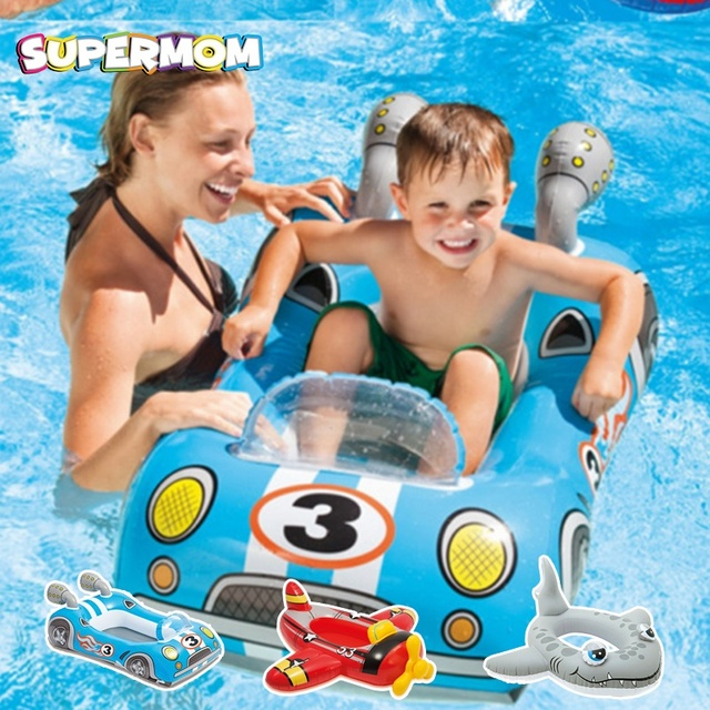 Niños natación anillo flotante asiento inflable deriva niño nadando vueltas barco  Bebé Deporte de agua herramienta 66a5ad3fa38