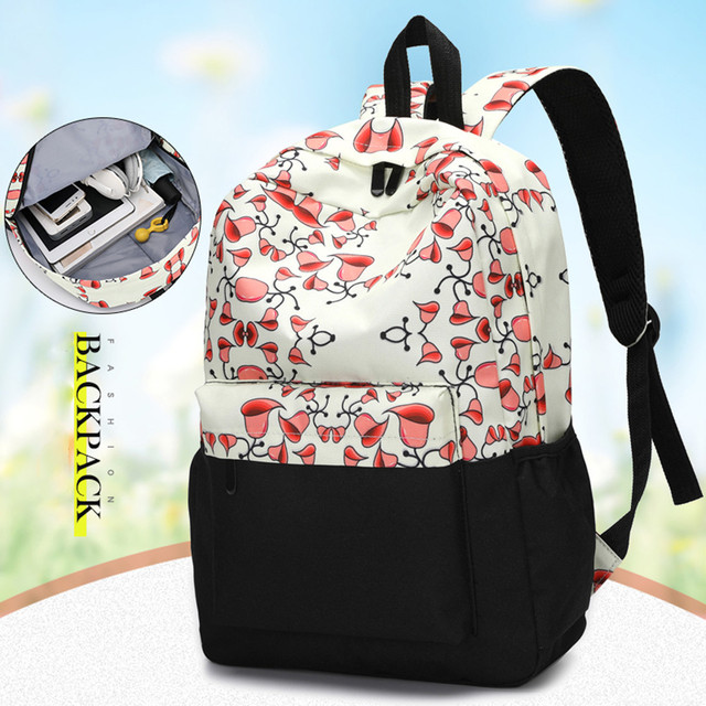 cc43457b82bc Fresh Style Women Backpacks beauty Floral Print Bookbags Female Backpacks  super quality Mochila Feminina