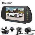 Alta qualidade 7 polegada display lcd espelho retrovisor do carro monitor invertendo câmera de visão traseira backup prioridade av led night vision