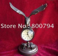 Rare Vintage Copper Mechanical Clock, Hawk, 24cm*13cm