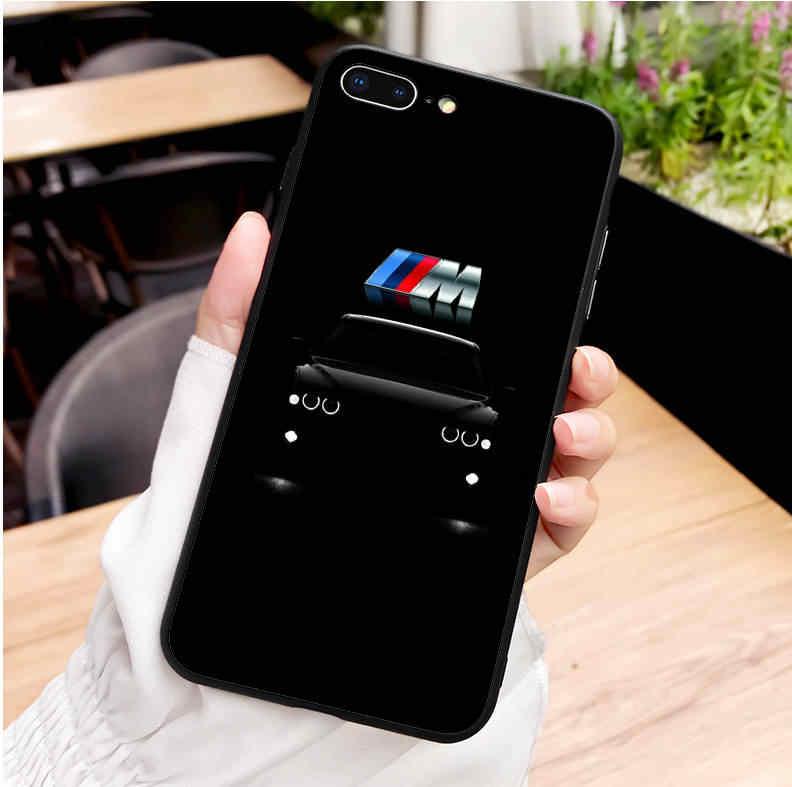Corridas de luxo da marca BMW preto silicone macio TPU tampa do telefone para o iphone SE MAX XR XS X 5 5S 6 6 6 S Plus 7 8 8 7 Plus plus