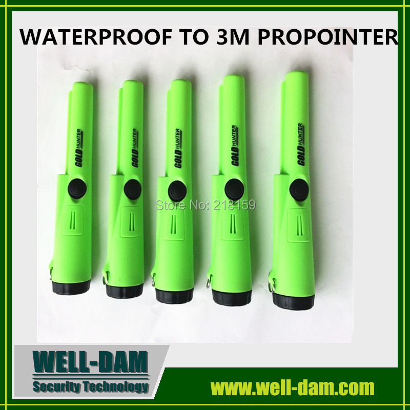 Green Color Gold Hunter AT ProPointer Waterproof Gold Detector free shipping 2pcs waterproof gold detector gold hunter at propointer orange color