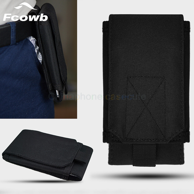 FCOWB Case For Oukitel K3 Phone Sport Pouch Belt Hook Loop Holster Waist Outdoor Phone Bags For All 4.7-5.8 Inch Phone