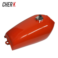 Cherk Motorcycle 9L Gal Cafe Racer Gas Capacity Tank Universal Fuel Tank with Thick Iron Cap Switch for Honda CG125 CG125S CG250
