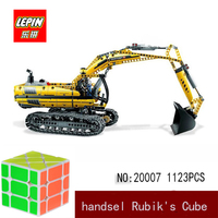 Лепин майнкрафт DHL Лепин техника серии Лепин 20007 1123 шт. экскаватор модель строительные блоки Кирпич совместимые legoed 8043 игрушка