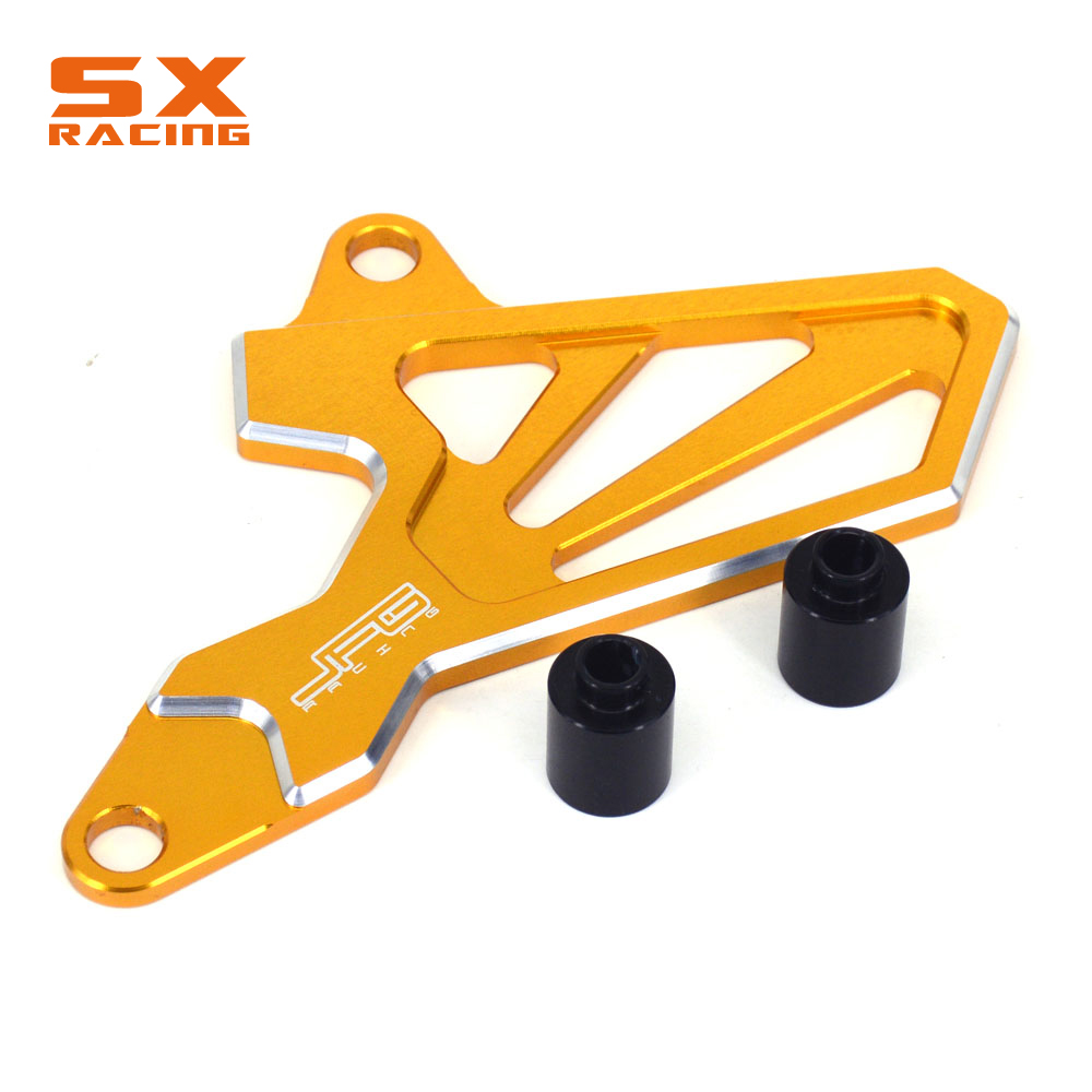 Motorcycle CNC Guard Front Chain Sprocket Protector Cover For SUZUKI DRZ400S DRZ400SM 2000-2016 DRZ 400S DRZ 400SM for suzuki drz400s drz400sm 2000 2015 motorbike dirt bike brake clutch handle lever a video help install drz 400s 400sm 400 s sm