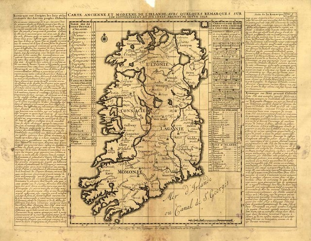 Ancient Map Of Ireland.Us 7 3 Vintage Ancient Europe Ireland Map Canvas Print Vintage Wall Sticker Art Printed Oil Painting Picture On Canvas Home Decor Ip057 In Wall