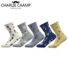 CHARLIE CAAMP 2018 New Women Cotton Plain Jacquard Cactus Fresh And Simple Wild Ladies Trend Harajuku Comfortable Socks G102