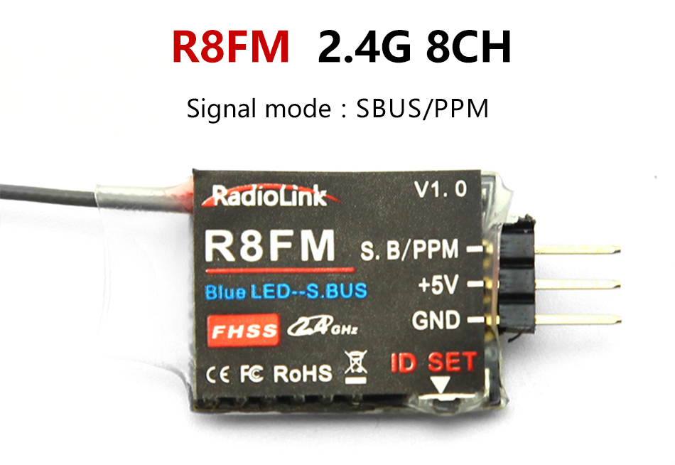 Radiolink R12DSM R12DS R9DS R8FM R6DSM R6DS R6FG Rc приемник 2,4G усилитель сигнала для передатчика радиоуправляемой модели AAT9/AT9S/AT10/AT10II