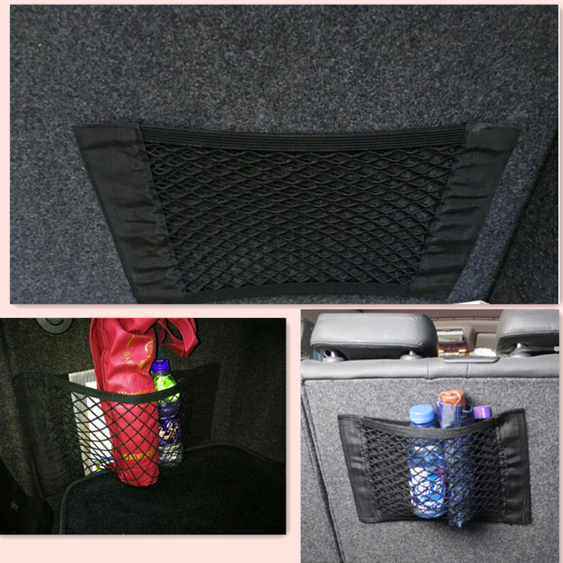 New Car Trunk Seat Elastic String Net Mesh Storage Bag for <font><b>chevrolet</b></font> aveo mitsubishi outlander skoda yeti honda accord corolla image
