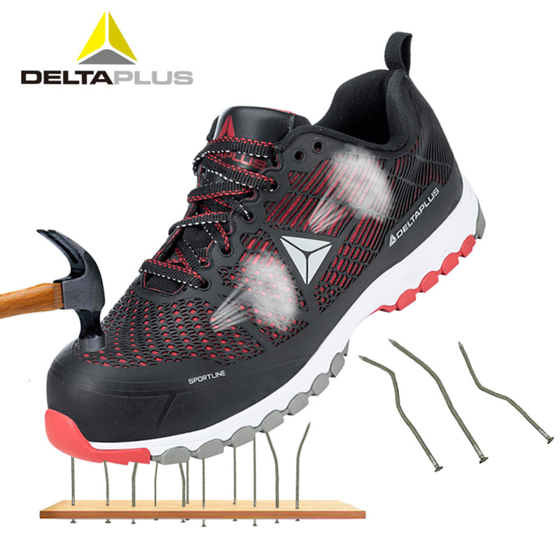 Deltaplus 301301 Safety Shoe Boots Men Summer Breathable Lightweight Labor Shoes Anti-piercing Non-slip Safety Working Shoes