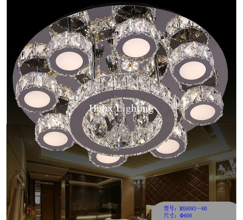Newly modern hot sale led crystal ceiling light fixture ac ring k9 1 2 3 4 aloadofball Image collections
