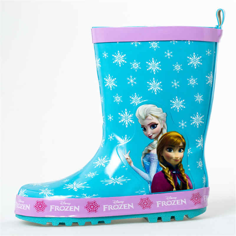 2019 New Disney Frozen Princess Rain boots Girls Skid shoes
