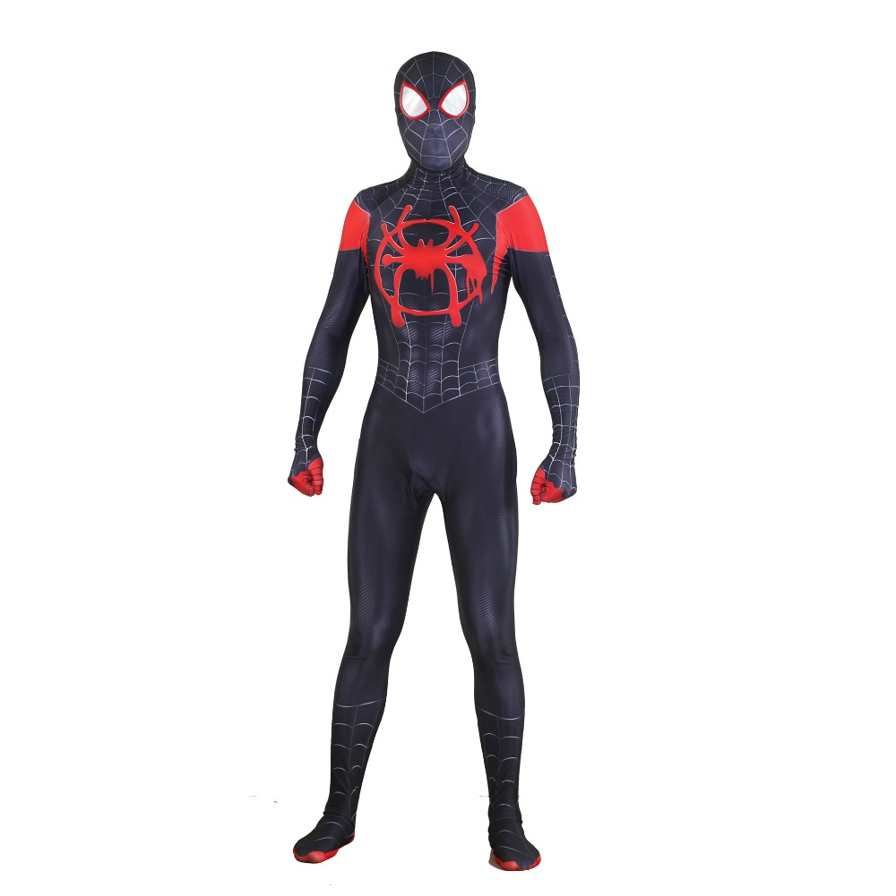 Miles Morales Jumpsuit Spider man Cosplay costume black Bodysuit Battle suit