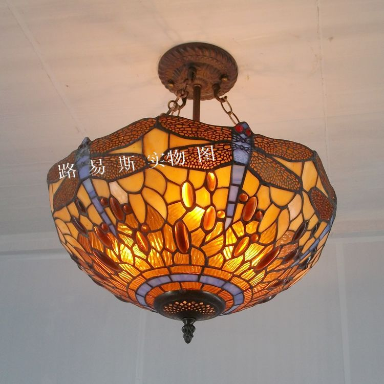 European Fordjoy Dragonfly Tiffany chandelier ballroom anti-glass lamps  bedroom lighting antique beauty bar down nostalgia - Online Get Cheap Antique Tiffany Lamp -Aliexpress.com Alibaba Group