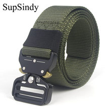 Supdindy-ceinture tactique pour hommes et femmes, en Nylon, à libération rapide, accessoire d'entraînement multifonctionnel pour l'extérieur, de haute qualité, 90 à 200 cm
