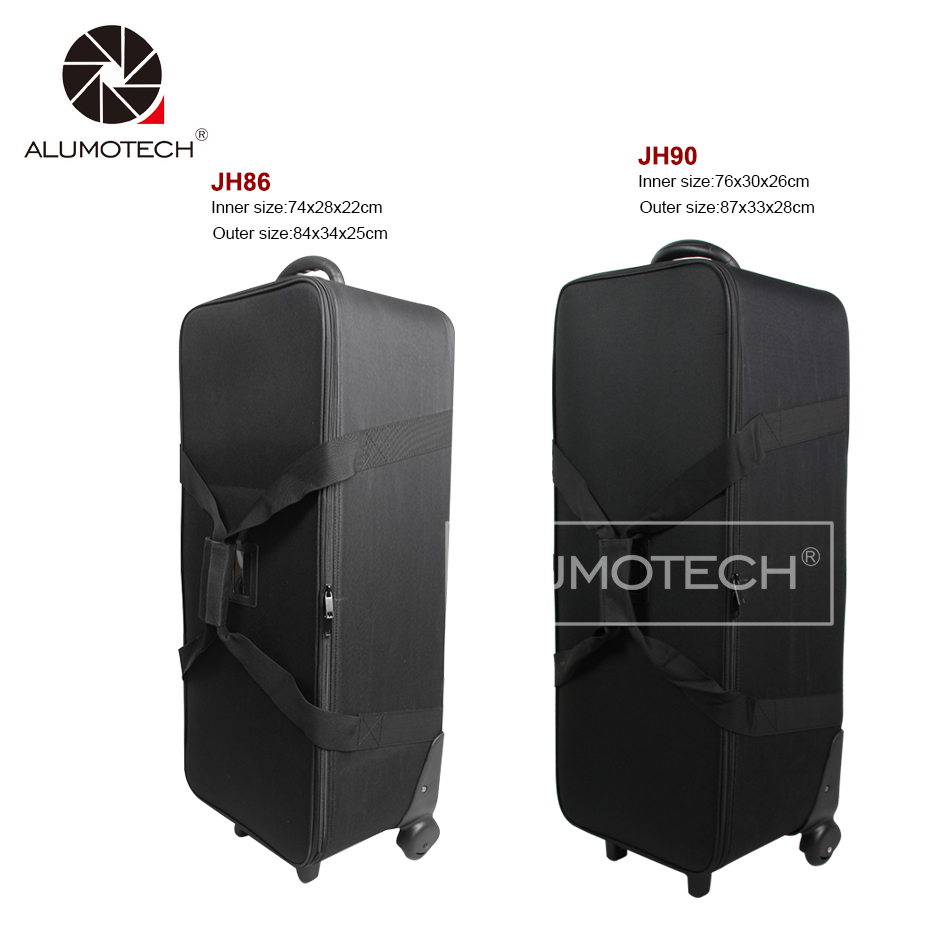 Alumtech 86/90 легкая сумка для походов чехол с колеса роликов для вспышка для фотоаппарата освещение мини прожектор для камеры студийное оборудо