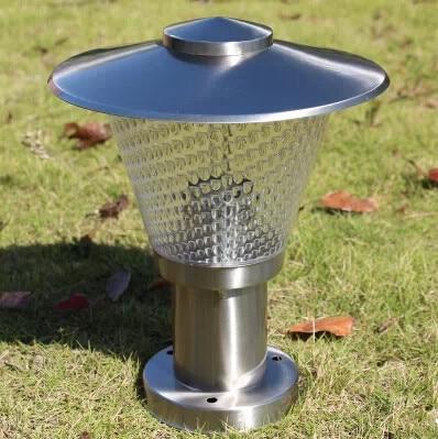 Great Stainless Steel LED Garden Column Lights Outdoor Waterproof Garden Goalpost  Lamps 110V/220V E27 12W