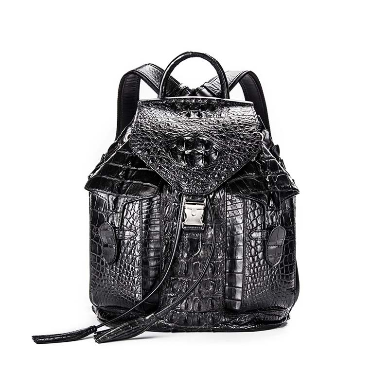ouluoer crocodile skin Double shoulder bag men backpack female new-style leisure fashionable female baggator bag female bag the impact of nurse empowerment on job satisfaction