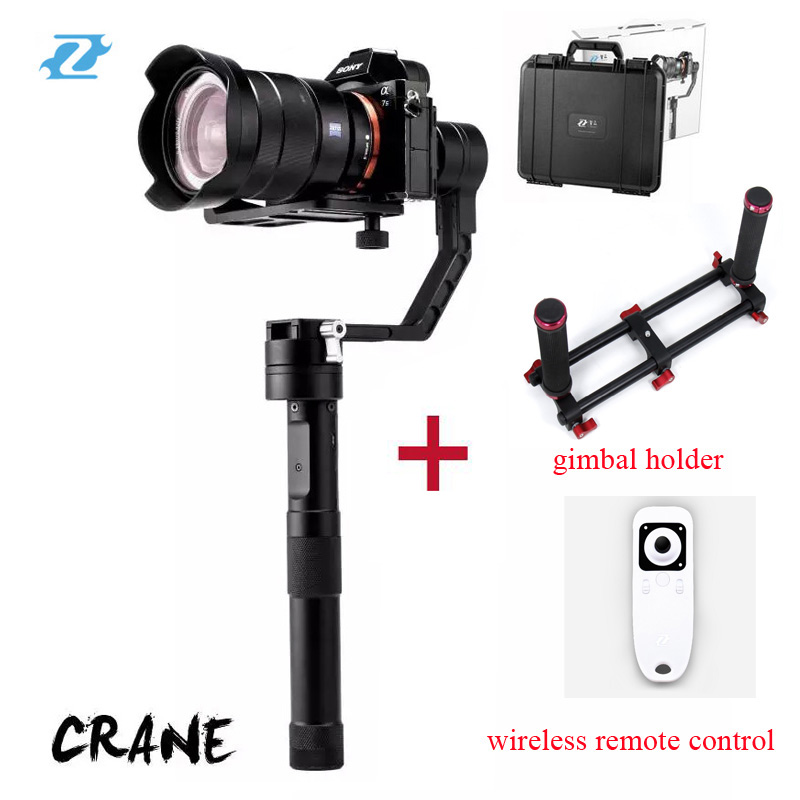 In Stock Zhiyun Crane 3 axis Stabilizer Handheld Gimbal For DSLR Canon Cameras Support 2KG VS Beholder DS1 MS1 EC1 PK Crane M occunomix one size fits all royal blue cotton hard hat shade
