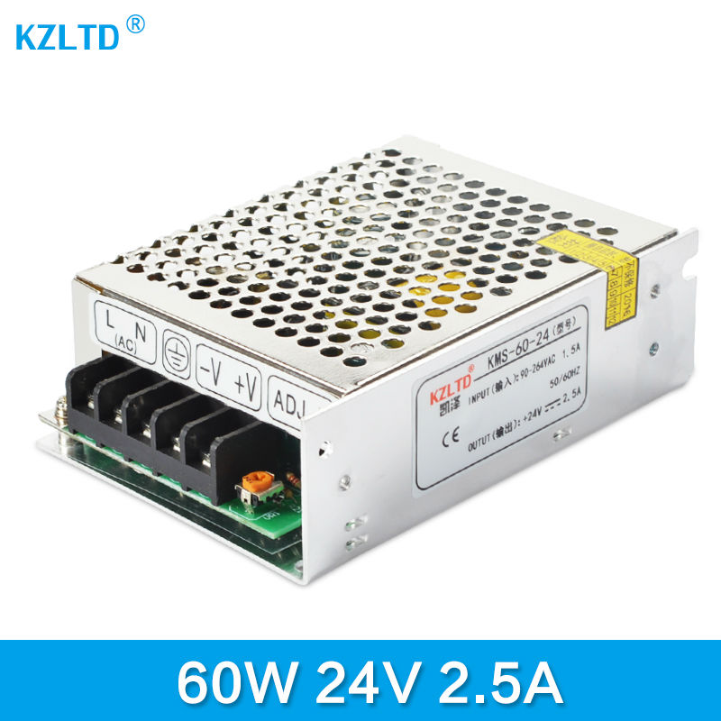 LED Transformer 24V 60W AC-DC Power Supply 110V / 220V to 24V Charger Adapter for Led Strip LED Module Light 3-Year Warranty dc power supply 24v 25a 600w led driver transformer 110v 220v ac to dc24v power adapter for strip lamp cnc cctv