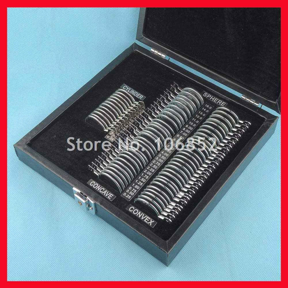 68pcs Trial lens case Optical trial lens set Metal rim Leather case