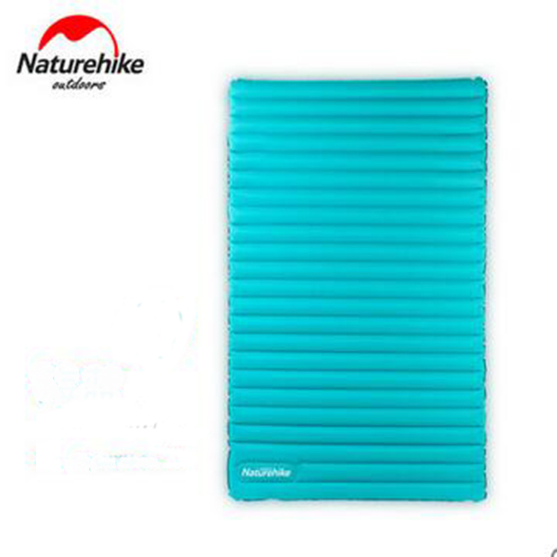 Naturehike Outdoor Double Automatic Inflatable Sleeping Pad Moistureproof Camping Mat Mattress Waterproof NH17T120-U NH17T140-U
