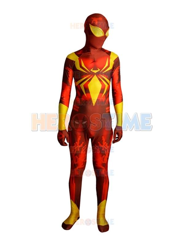 Home Black Iron Spider-man Costume Spandex Fullbody Iron Spiderman Zentai Superhero Cosplay Costume 3d Printing Halloween Bodysuit