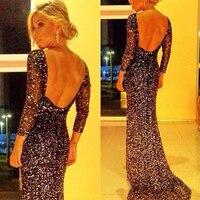 MUXU vestido de festa sexy long dress black glitter dress backless women dress vestidos mujer robe sexy elbise prom club party