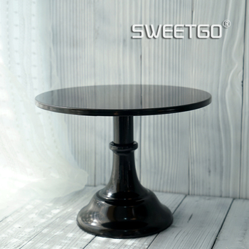 Black Metal Wedding Decorative Dessert Cake Stand with 8 in / 10 in Plate