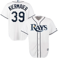 MLB Men S Tampa Bay Rays Kevin Kiermaier Majestic White Home Cool Base Player Jersey Outlaw