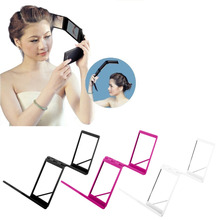 New Arrival 1 pc Compact 4 folds Mirror Panel Expandable Makeup Mirror Four Sides with Case Quality