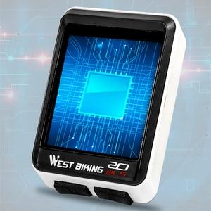 Image 4 - WEST BIKING Waterproof 5 Language Bicycle Computer Wireless Cycling Odometer MTB Bike Stopwatch Watch LED Screen Speedometer