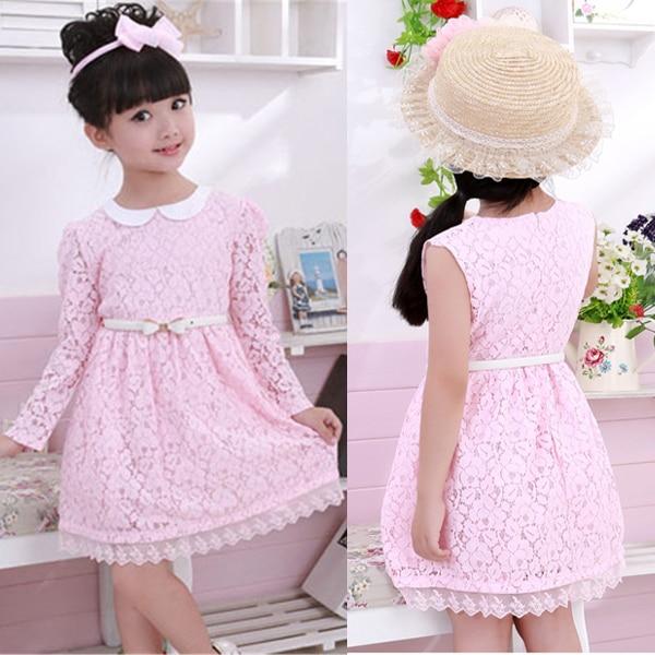 Vintage Lace Flower Girl Dress Girls Fall Dresses Toddler Teenager ...