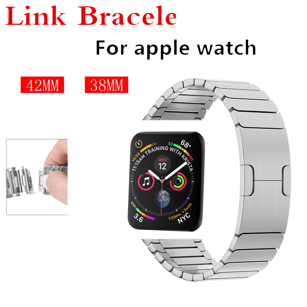 Luxury strap for apple watch band 42mm 38mm Link bracelet stainless steel metal bracelet removeable watchband for iwatch 4/3/2/1 светильник подвесной eglo aleandro 91753