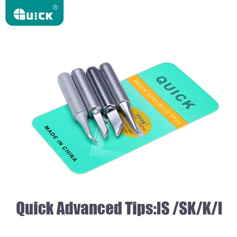 Original QUICK 936 Soldering Iron Tips Lead-free Iron Tip 900M-T-K I SK IS Rework Station Tool For Soldering Iron