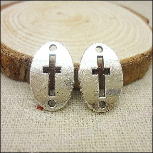 20 pcs Vintage silver Cross zinc alloy charms pendant DIY Bracelet Necklace metal jewelry accessories Making