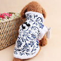 Hot sale dog clothes new style cotton blue and white porcelain pet Dress Free Shipping