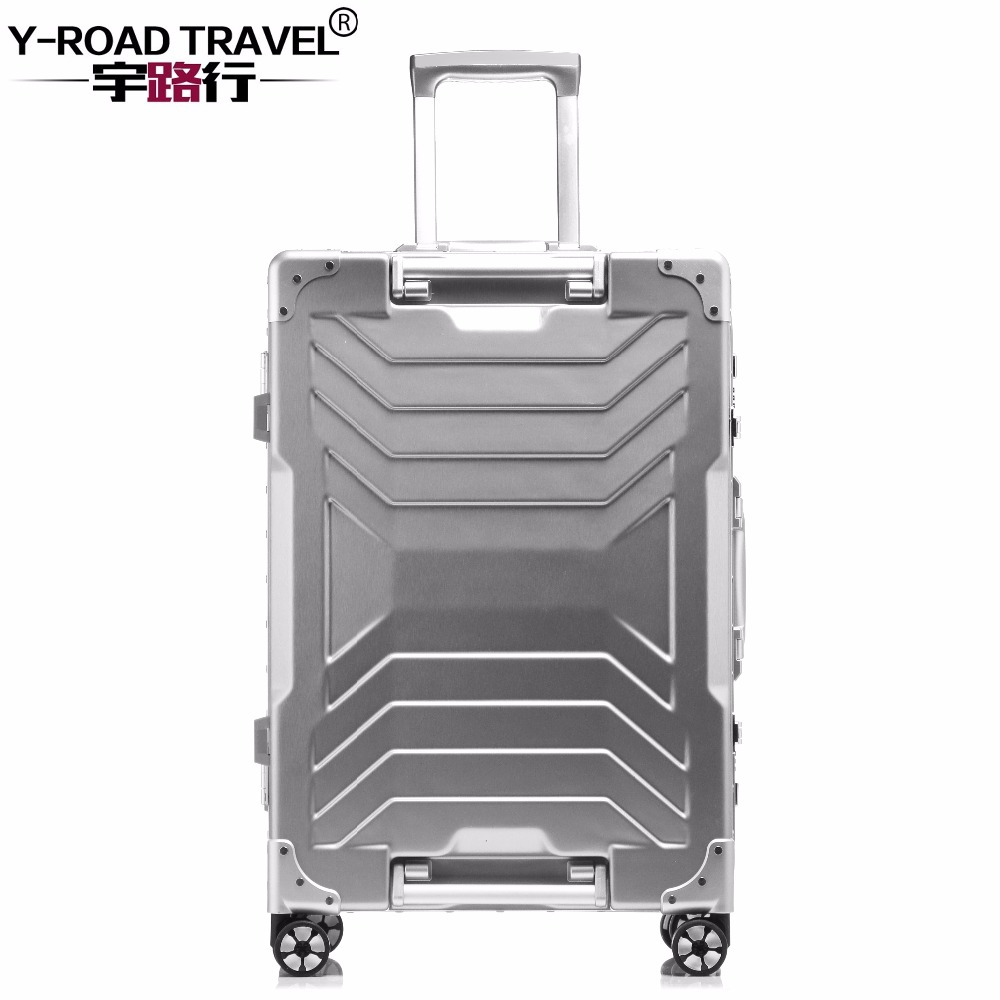 Aluminum Trolley Suitcase Carry On Spinner Wheel Travel