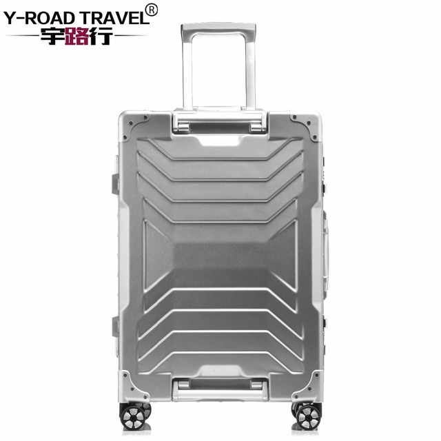 89fb9e073 Aluminum Trolley Suitcase Carry on Spinner Wheel Travel Luggage 20